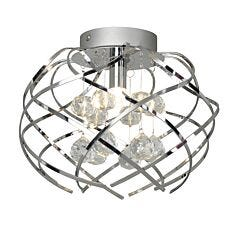 Village At Home Mays Flush Ceiling Light
