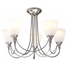 Village At Home Nottingham 5-Light Ceiling Light - Chrome