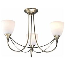 Village At Home Nottingham 3-Light Ceiling Light - Brass