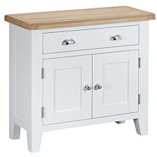 Madera Ready Assembled Small Wooden Sideboard - White