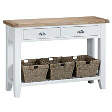 Madera Large Wooden Console Table - White