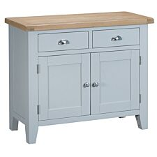 Madera Ready Assembled 2 Drawer 2 Door Wooden Sideboard - Grey