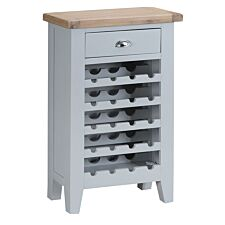 Madera Ready Assembled Wooden Wine Cabinet - Grey