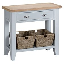 Madera Wooden Console Table - Grey