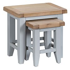 Madera Ready Assembled Nest of 2 Tables  -  Grey