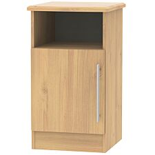 Edina 1-Door Bedside Table - Modern Oak