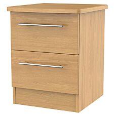 Edina 2-Drawer Bedside Table -Modern Oak