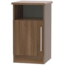 Edina 1-Door Bedside Table - Walnut
