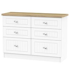 Wilcox 6-Drawer Midi Chest of Drawers - Porcelain Ash