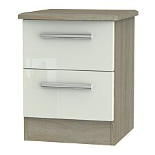 Kirkhill 2-Drawer Bedside Table - Taupe Cedar