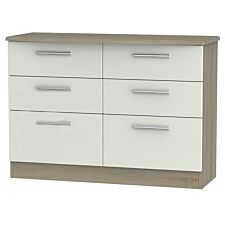 Kirkhill 6-Drawer Midi Chest of Drawers - Taupe Cedar