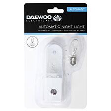 Daewoo Automatic Night Light with Spare Bulb