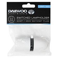 Daewoo Switched Lampholder Bayonet Plug - 2 Amp