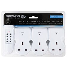 Daewoo Remote Control Sockets - 3 Pack