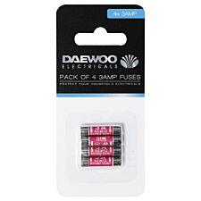 Daewoo 3-Amp Fuses - 4 Pack