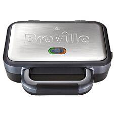 Breville VST041 Deep–Fill 900W Sandwich Toaster – Black & Silver