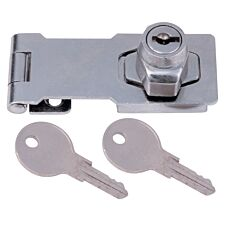 Select Hardware Lockable Hasp & Staple Chrome Plated - 75mm