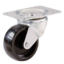 Select Hardware Pack of 2 Black Plate Castors - 41mm