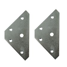 Select Hardware 83mm Zinc Plated Corner Plates - Pack of 2