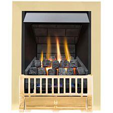 Farlam Slimline Radiant Gas Fire - Brass