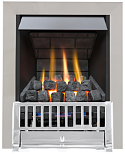 Focal Point Fires Farlam Slimline Radiant Gas Fire - Chrome