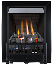Focal Point Fires Farlam Slimline Radiant Gas Fire - Black