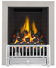 Focal Point Fires Farlam Full Depth Radiant Gas Fire - Chrome