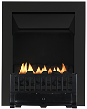Focal Point Fires Farlam Flueless Inset Gas Fire - Black