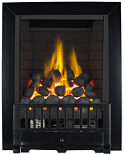 Focal Point Fires Farlam Full Depth Radiant Gas Fire - Black