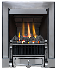 Focal Point Fires Victorian Slimline Radiant Cast Iron Gas Fire - Satin Chrome