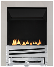 Focal Point Fires Mono Flueless Inset Gas Fire - Chrome