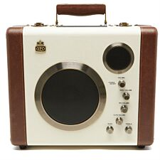 GPO Retro Manga Bluetooth Speaker & Amplifier System - Cream / Tan