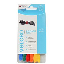 VELCRO Brand One-Wrap Reusable Ties - Pack of 5