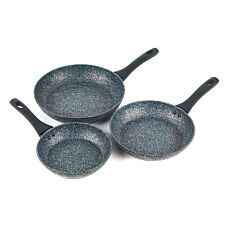 Salter Megastone 3-Piece Non-Stick Frying Pan Set