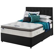 Silentnight Miracoil Geltex Divan Bed - Ebony