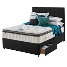 Silentnight Miracoil Geltex 2 Drawer Divan Bed - Ebony