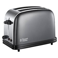 Russell Hobbs 23332 Colours Plus 1670W Wide–Slot 2–Slice Toaster – Grey