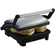 Russell Hobbs 17888 3–in–1 Panini, Grill & Griddle – Silver/Black