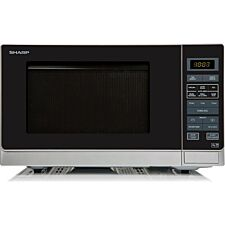 Sharp R372SLM 25L 900W Solo Digital Microwave - Silver