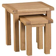Graceford Ready Assembled Large Nest of 2 Oak Tables
