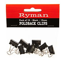 Ryman FoldBack Clips - Pack of 10