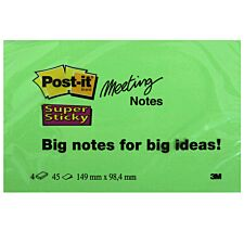 3M Post-It Super Sticky Meeting Notes - Pack of 4