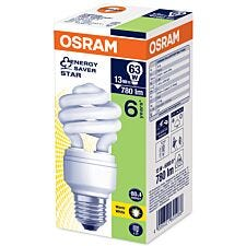 Osram 15W E27 ES CFL Twist Bulb - Warm White