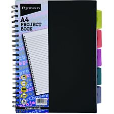Ryman Black A4 Project Book - 250 Pages