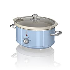 Swan SF17021BLN 3.5L Retro Slow Cooker - Blue