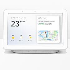 "Google Home Hub Hands-Free Smart Speaker with 7"" Screen - Chalk"