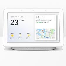 "Google Home Hub Hands-Free Smart Speaker with 7"" Screen - Chalk"