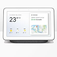 "Google Home Hub Hands-Free Smart Speaker with 7"" Screen - Charcoal"
