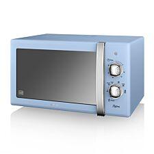 Swan Retro SM22130BLN 800W 20L Manual Solo Microwave - Blue