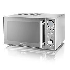 Swan SM3080N 800W 20L Digital Solo Microwave - Silver